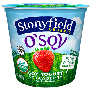 Organic O'Soy Strawberry Yogurt