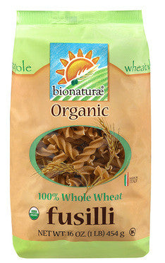 Organic 100% Whole Wheat Fusilli