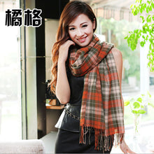 Load image into Gallery viewer, Wool Plaid scarves