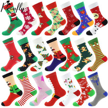 Load image into Gallery viewer, Cotton Christmas Socks Crew length