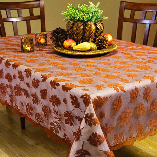 Autumn leaves lace table cloth