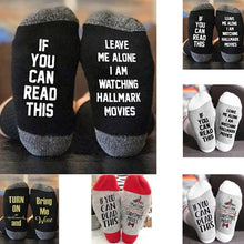 Load image into Gallery viewer, Hallmark Christmas Movies Soft Socks