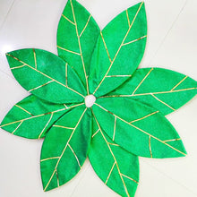 Load image into Gallery viewer, Poinsettia Christmas Tree Skirt