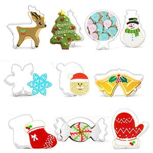 Christmas Cookie Cutters Set Stainless Steel