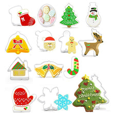 Load image into Gallery viewer, Christmas Cookie Cutters Set Stainless Steel