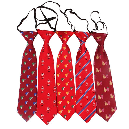 Christmas faux ties for boys