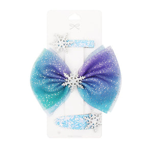 3 Pcs/set Princess Snowflake Hair Bows for Girls