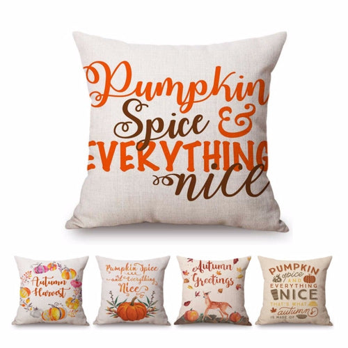 Pumpkin Spice and Everything Nice pillow variations