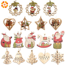 Load image into Gallery viewer, Wooden ornaments to decorate