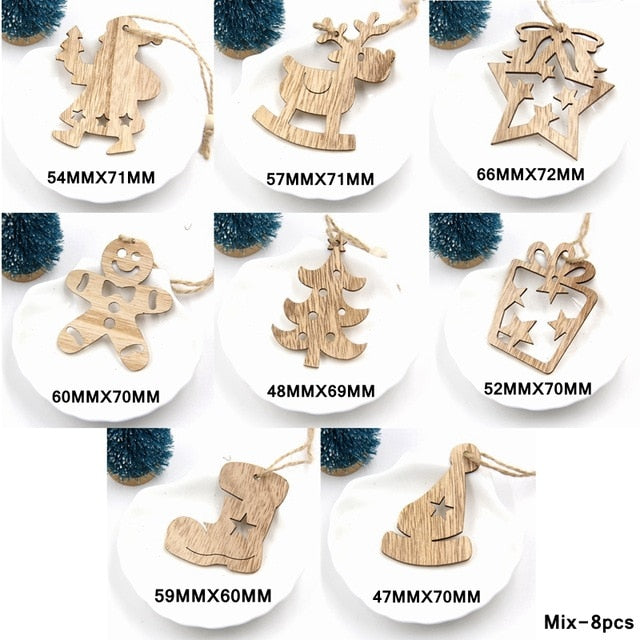 Wooden ornaments to decorate