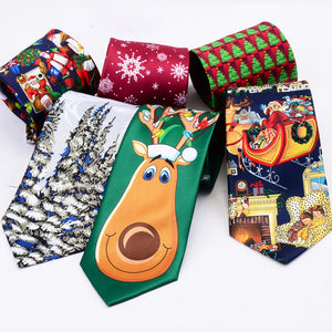 Silk Christmas ties