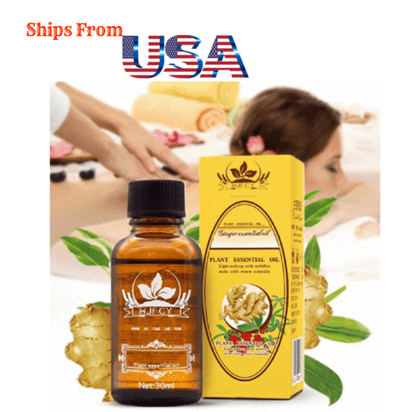 Besttrends™ Original Herbal Lymphatic Drainage Ginger Oil [100% Pure Natural] 30 ml