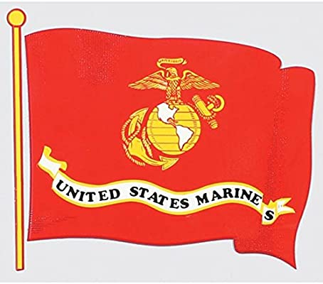 Marine Corps Flag Bumper Sticker
