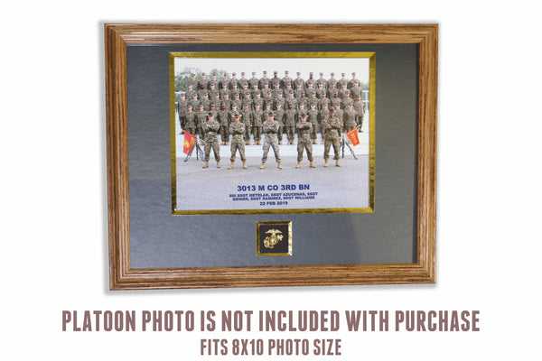 Recruit Platoon Photo Frame with EGA