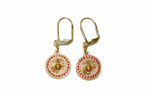 EGA Earrings Red Gems