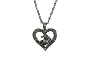 Heart EGA Pewter Necklace