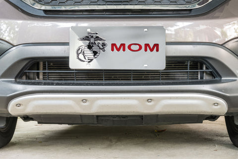 Marine Mom Mirrored License Plate