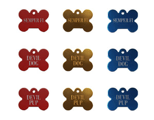Marine Corps Pet Tags