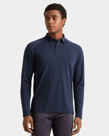 Delta™ Pique Long Sleeve Polo Navy / Small / Notifyfeatured image