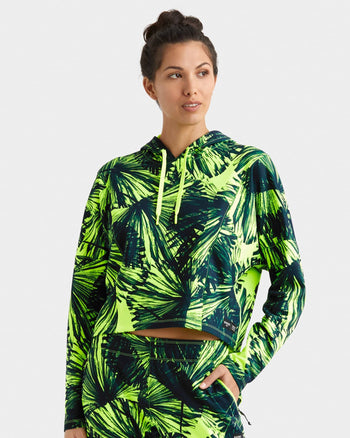 Women's Sublime Tech Fleece Cropped Hoodie Stella Print / X-Small / Newfeatured image