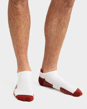 Active Essentials Ankle Sock White/Rhone Red / M / New Setfeatured image