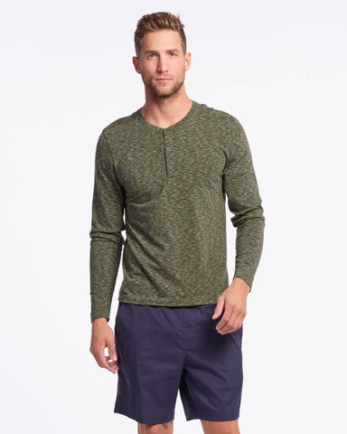 Space Dye Henley LS - Sale Jade Sheen / Small / Salefeatured image