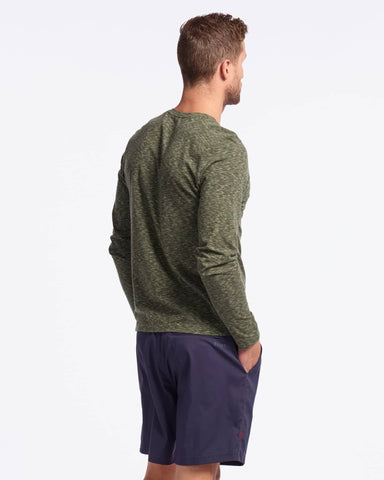 Space Dye Henley LS - Sale Jade Sheen / Small / Saleback image