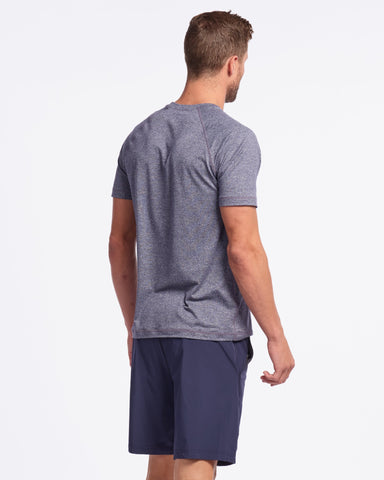Reign Short Sleeve Midnight Heather back image
