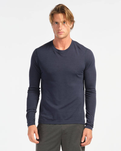 Taupo Wool Seamless Long Sleeve Navy featured image