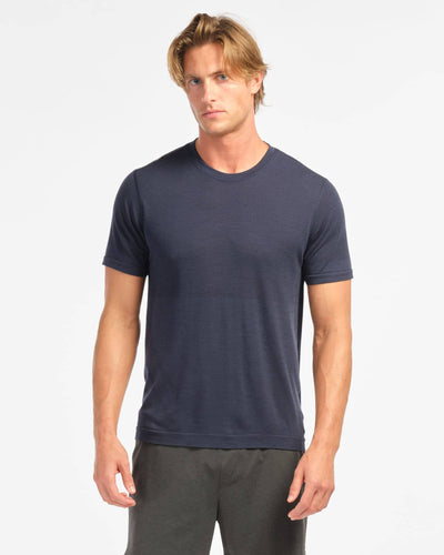 Taupo Wool Seamless Short Sleeve Navy featured image