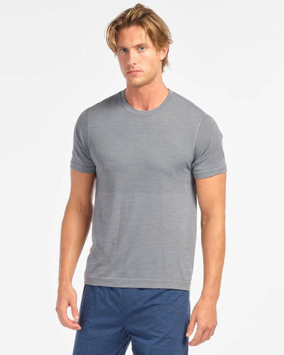 Taupo Wool Seamless Short Sleeve Flint Stone featured image