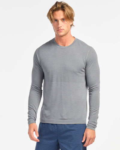 Taupo Wool Seamless Long Sleeve Flint Stone featured image