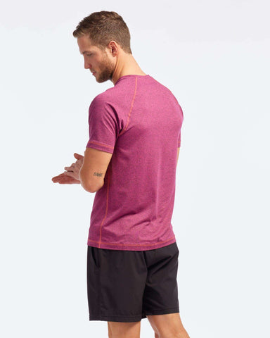 Reign Short Sleeve Pyrenees Pink Heather back image