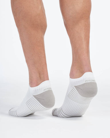 SilverTech No Show Socks White/High Rise Gray / Medium / Noneback image