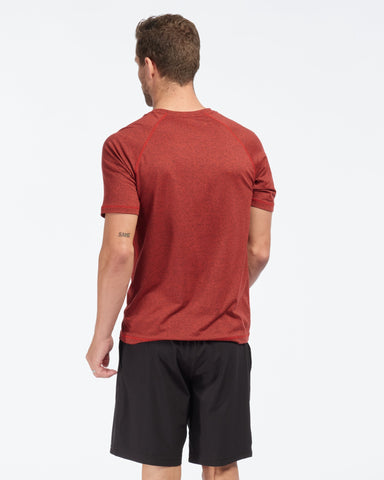 Reign Short Sleeve Cherry Red Heather back image