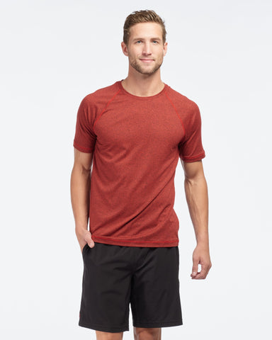 Reign Short Sleeve Cherry Red Heather featured image