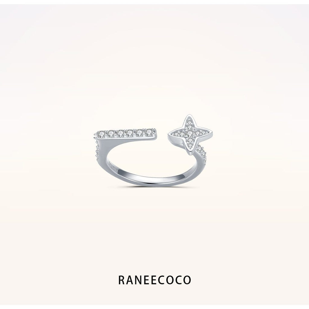 Raneecoco Jewelry 5 Lucky Star Ring