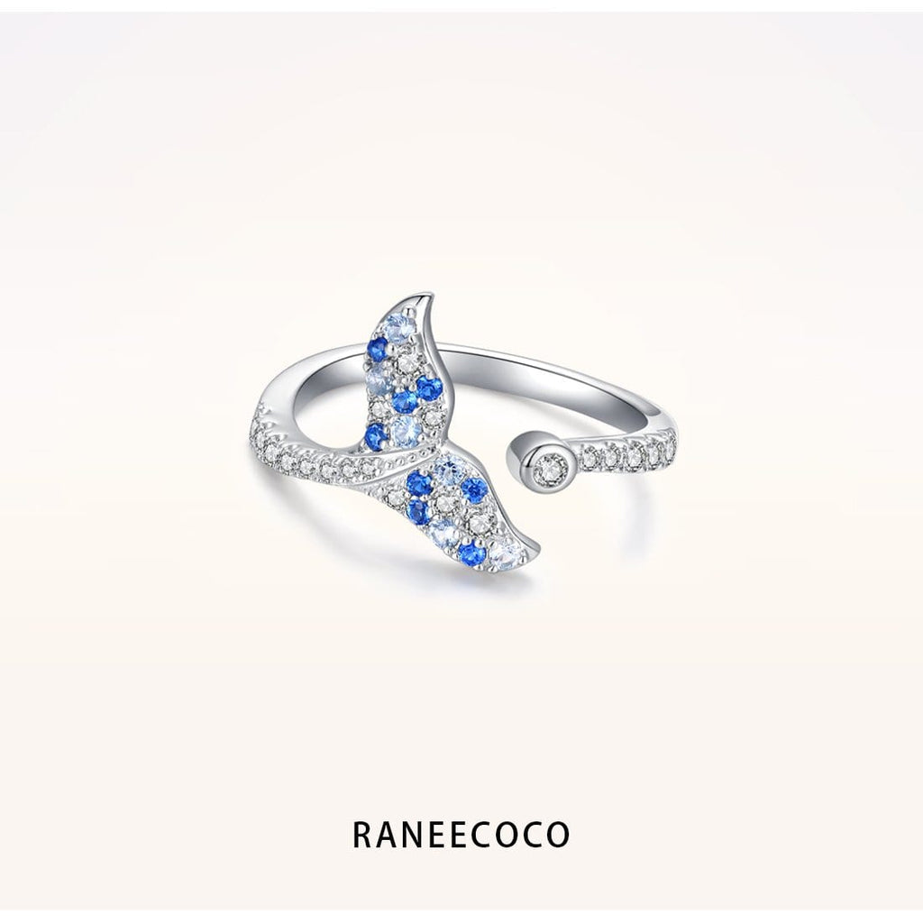 Raneecoco Jewelry Blue Mermaid Tail Ring
