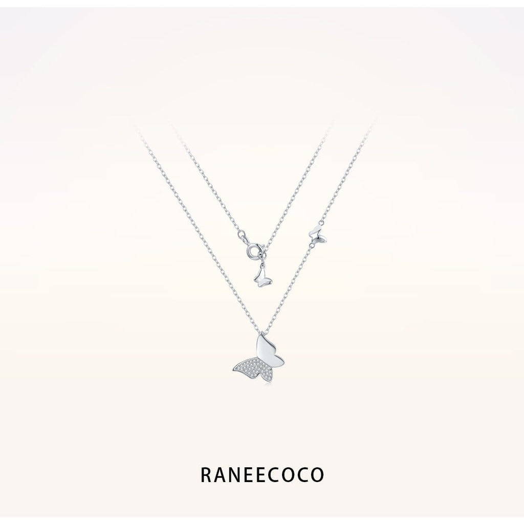 Raneecoco Jewelry Butterflies Necklace