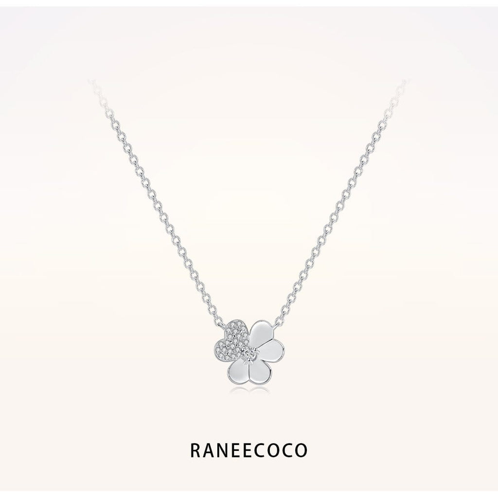 Raneecoco Jewelry Clover Necklace