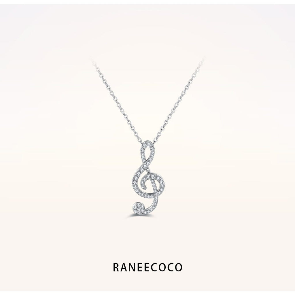 Raneecoco Jewelry Musical Note Necklace