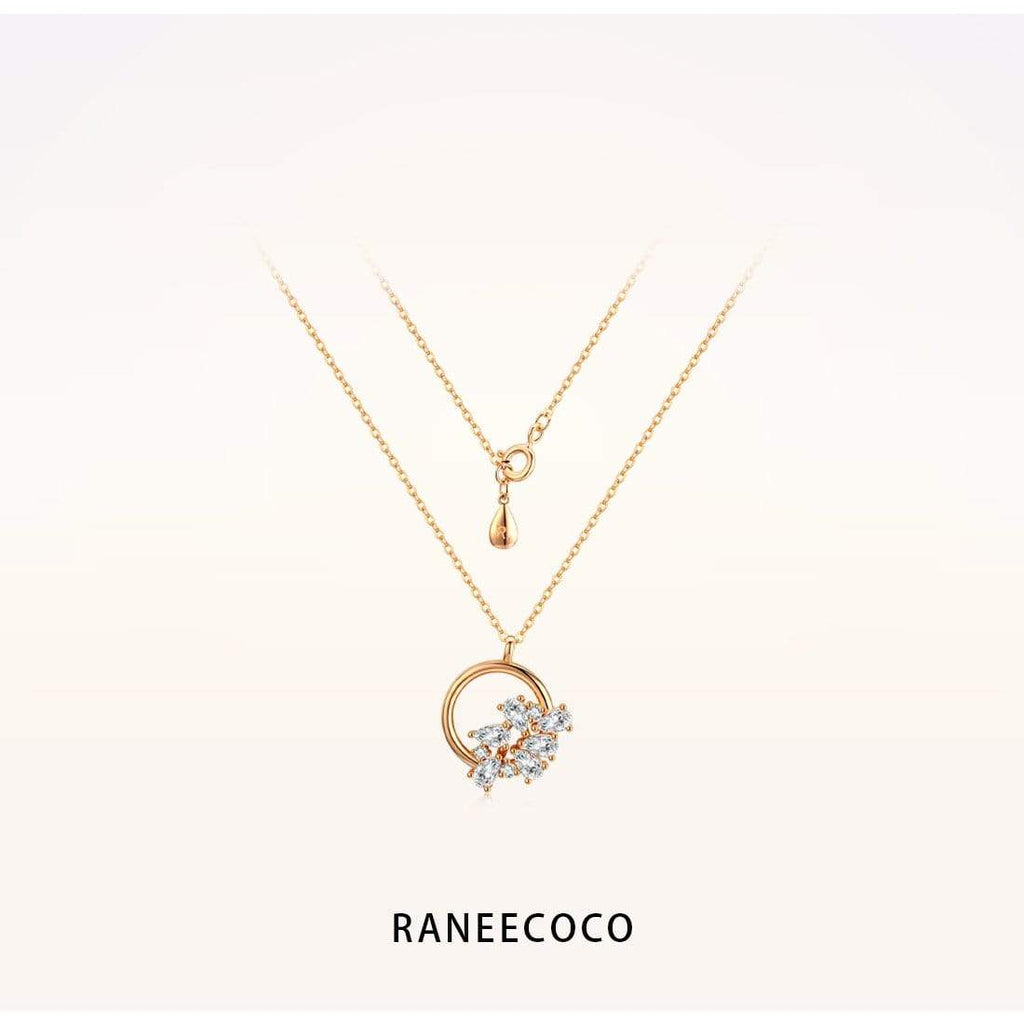 Raneecoco Jewelry Petal Ring Necklace
