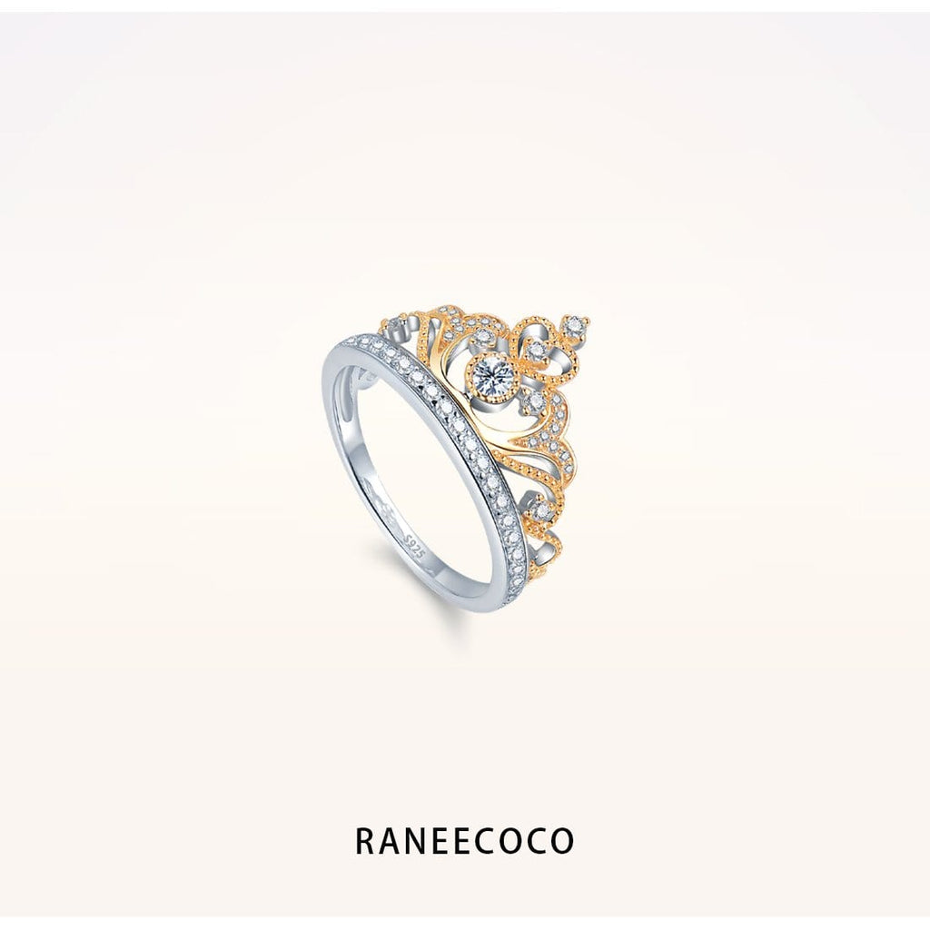 Raneecoco Jewelry Yellow / 5 Princess Crown Ring