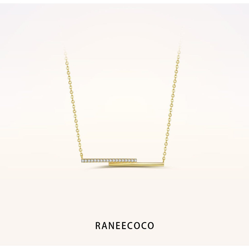 Raneecoco Jewelry Yellow Double Line Necklace