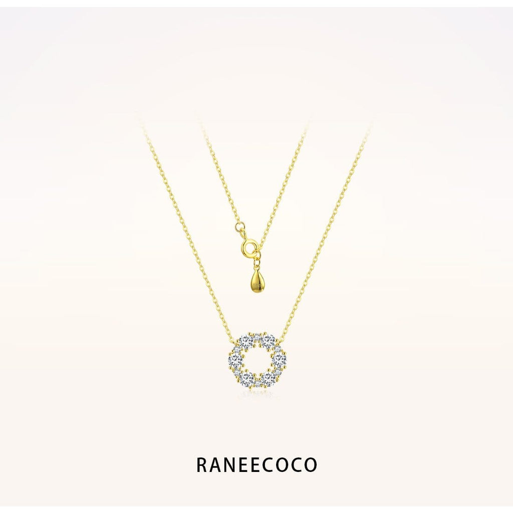 Raneecoco Jewelry Yellow Flower Ring Necklace
