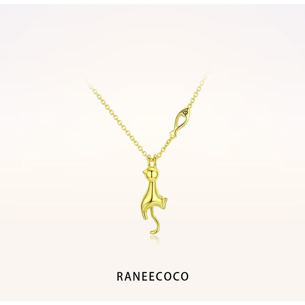 Raneecoco Jewelry Yellow Little Kitten Necklace