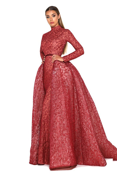 PORTIA AND SCARLETT 1702 LONG SLEAVES RED COLOR