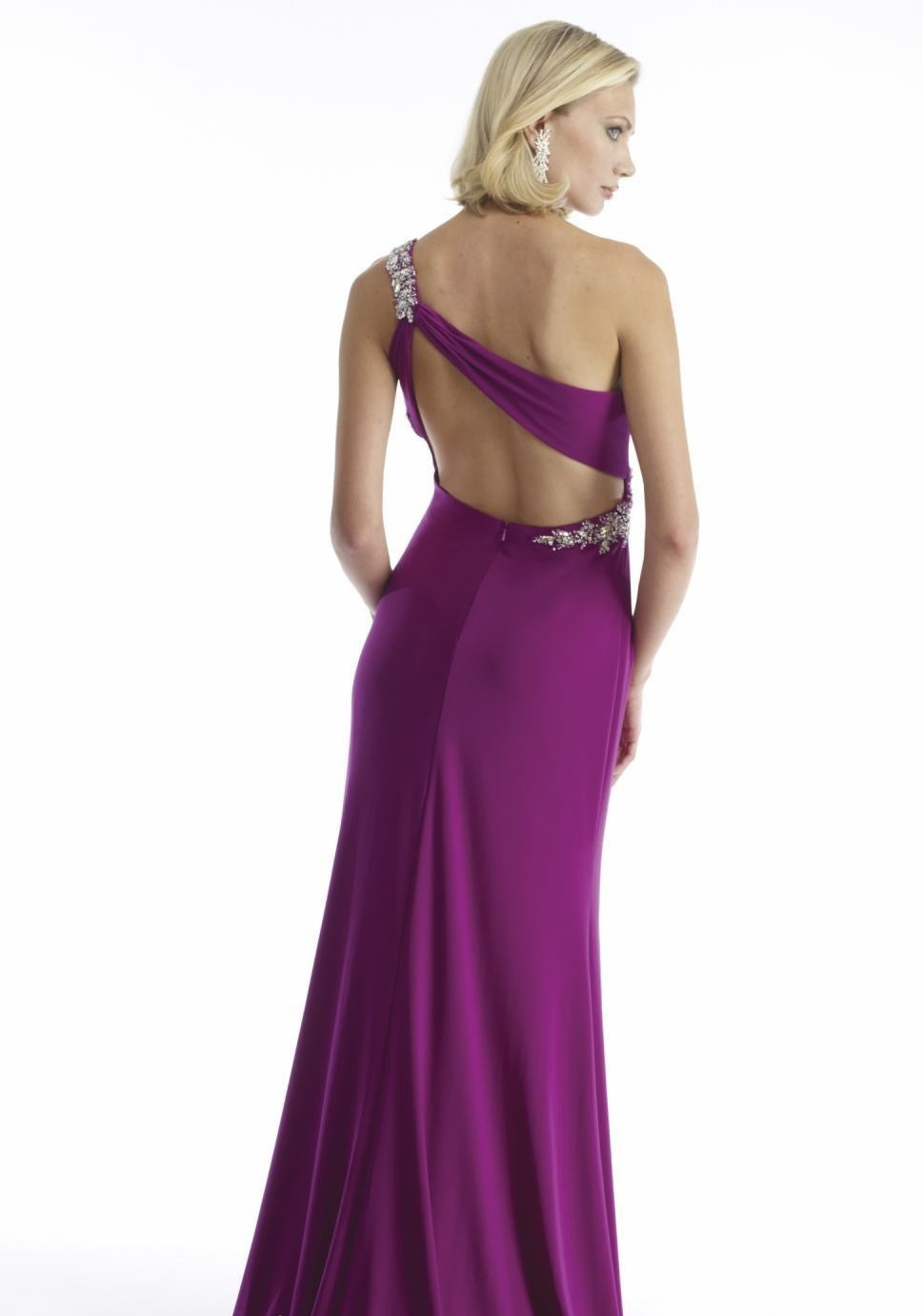 Morrell Maxie 13748 Asymmetrical Purple Gown