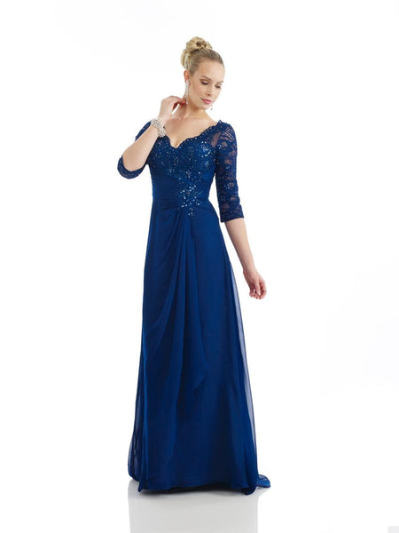 Morrell Maxie 14292 Shimmering Quarter-Sleeved Gown