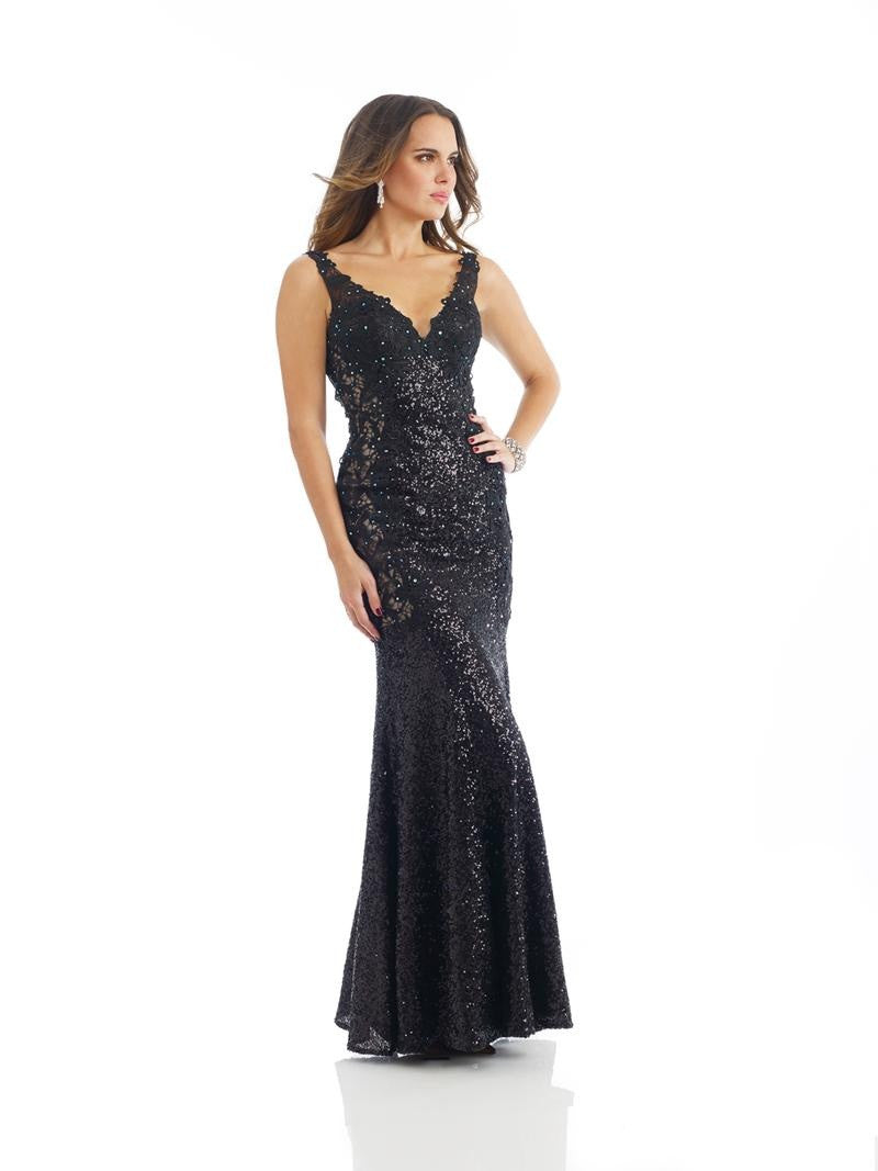 Morrell Maxie 14196 Shimmering Black Gown